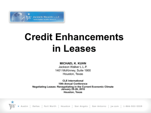 II. Letters of Credit