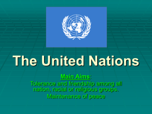 The United Nations - Primary Resources