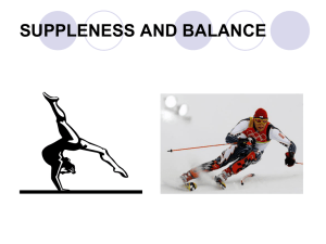 Suppleness & Balance