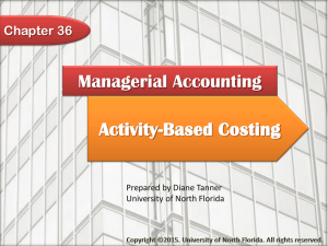 Activity-Based Costing - University of North Florida