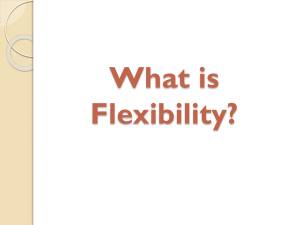 Types of flexibility training and the specifics of performance
