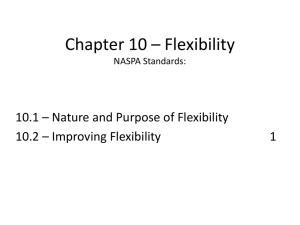Chapter 10 * Flexibility NASPA Standards