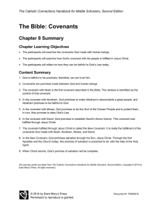 The Bible: Covenants Chapter 8 Summary