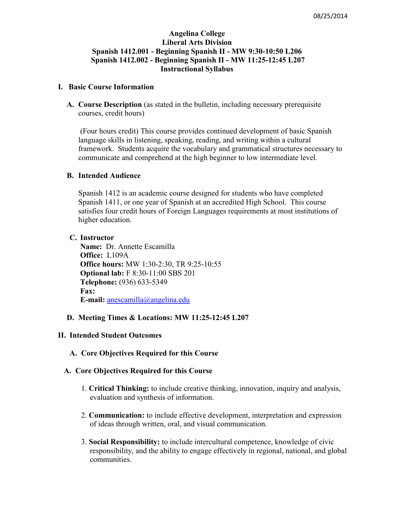 worksheet En El Vecindario Capitulo 2 Worksheet Answers syllabus angelina college