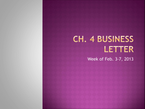 Ch. 4 Business Letter