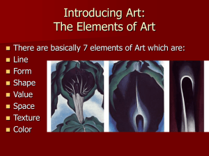 Introducing Art: The Elements of Art