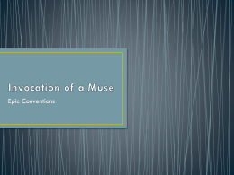 Invocation of a Muse