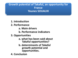 Global takaful contributions grew by 31% in 2009, to US$7b