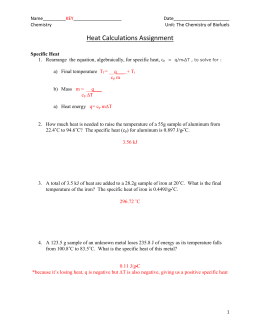 Heat Calculations Assignment - biomass-for