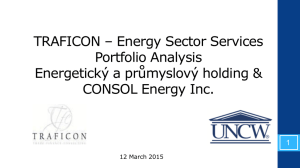 TRAFICON * Energy Sector Services Portfolio Analysis Energetický