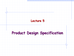 Product Design Specification
