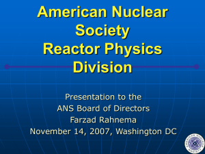 Reactor Physics - American Nuclear Society