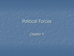 Chapter 9: Political Forces