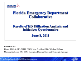 florida ed collaborative - Florida Medicaid External Quality Review