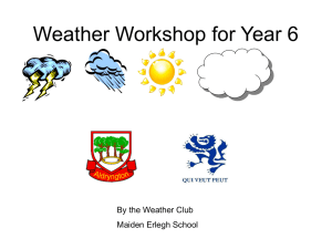 Weather Questions for Year 6
