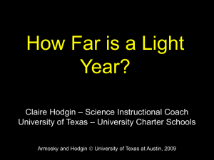 How Far is a Light Year? - Astronomy Outreach at UT Austin