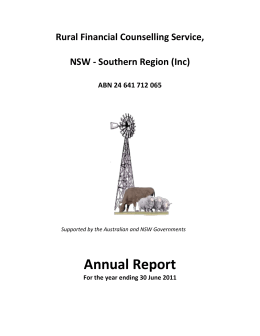 RFCS, NSW - Southern Region Annual Report