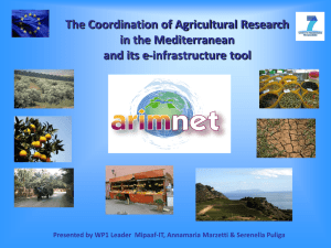 ARIMNet A cooperative network for Agricultural Research