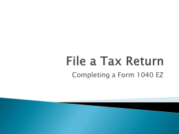 File a Tax Return
