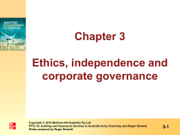 Corporate Governance - McGraw Hill Higher Education