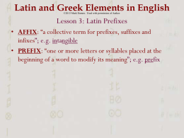 Latin 3 & 4 PPT - PlanbookConnect