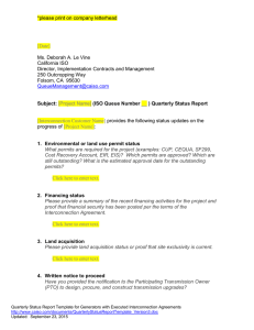Queue Management Quarterly Status Report Template