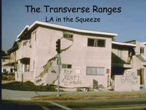 The Transverse Ranges Lecture Notes Page