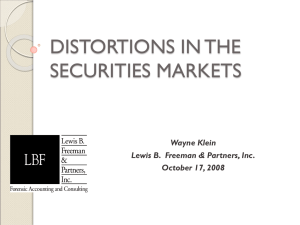 Five Distortions in the Securities Markets, Oct. 17, 2008