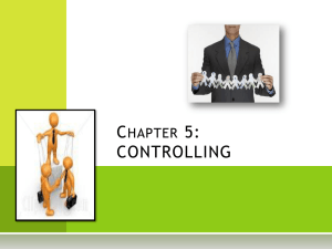 chapter 5 – controlling