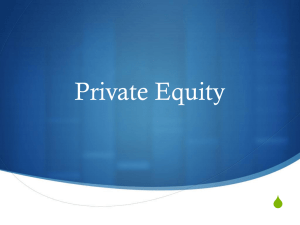 Private Equity - Undergraduate Investment Society at UCLA
