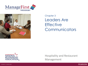 Chapter 3 Leaders Are Effective Communicators