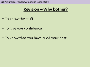 Revision Tips - St-Cuthbert Mayne School