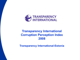 Transparency International Corruption Perception Index 2008