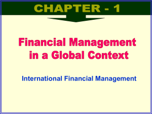 Financial Management in a Global Context