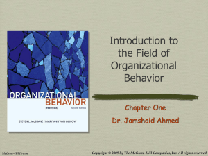 Introduction to the Field of OB