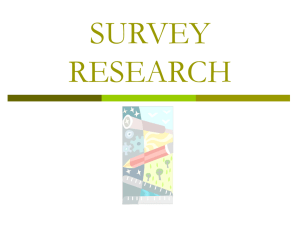 Survey Research PPT