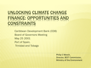 no island left behind - Caribbean Development Bank