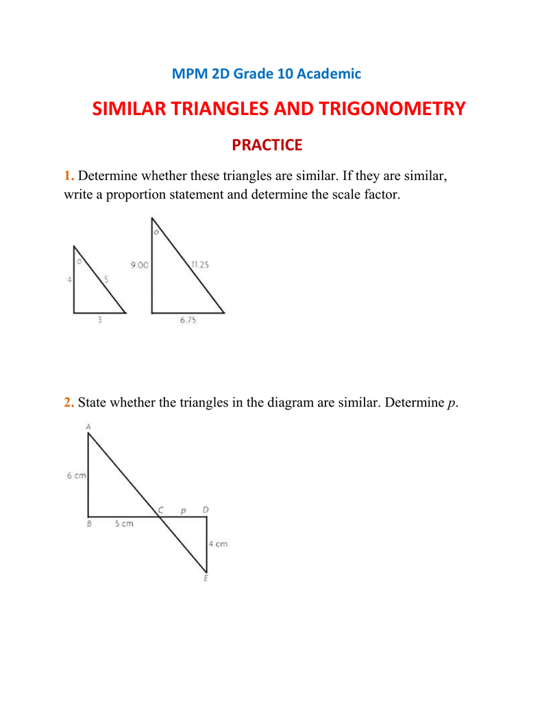 100 Angle Of Elevation And Depression Trig Worksheet – Trigonometry Practice Worksheets