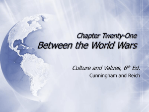 Chapter Twenty-One Between the World Wars