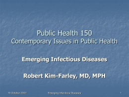 Epidemiology 231 - UCLA School of Public Health