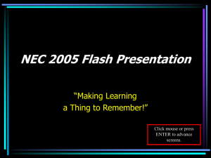 NEC 2005 Flash Presentation