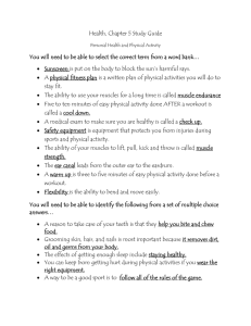 Health ch 5 study guide Personal Health and Phys Activity