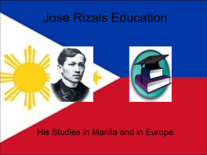 Jose Rizals Education