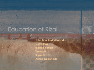 Education of Rizal