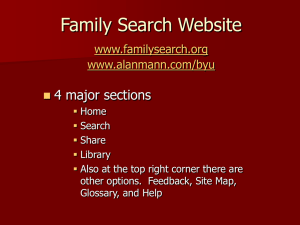Family Search www.familysearch.org