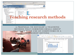 challenges of teaching research methods, skills