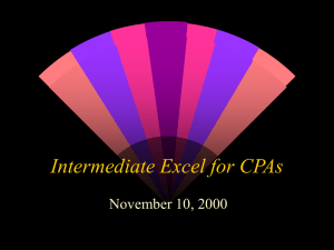 Intermediate Excel for CPAs