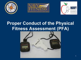 Proper Conduct of the PFA and Command PT