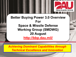 Better Buying Power 3.0 Brief