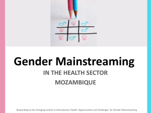 Gender Mainstreaming - Gender Responsive Budgeting